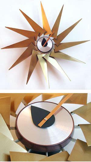 vitra turbine  wall clock  brass  george nelson