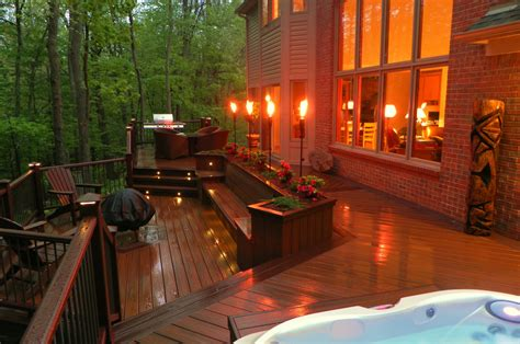 exteriors lighting ideas deck railing lighting and deck