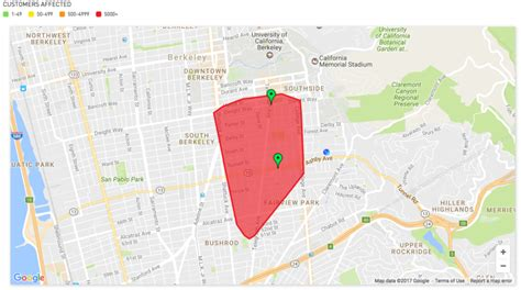 affected  power outage  south berkeley