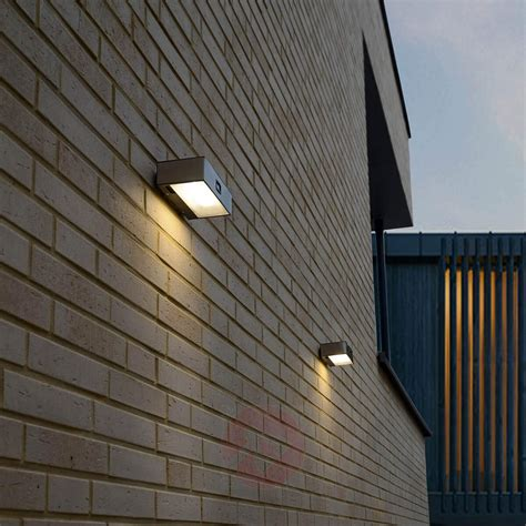 solar powered brick led sensor outdoor wall light lights