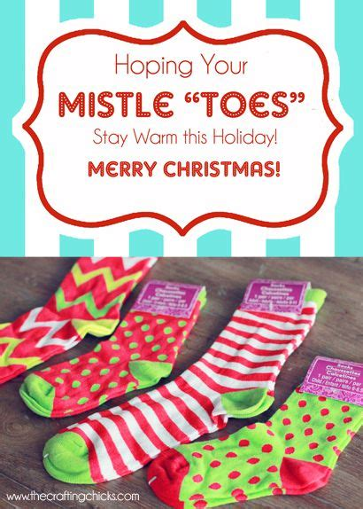 mistle toes christmas socks gift tag  printable