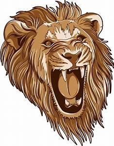16 Roar On Lion Head Vector Images - Roaring Lion Head ...