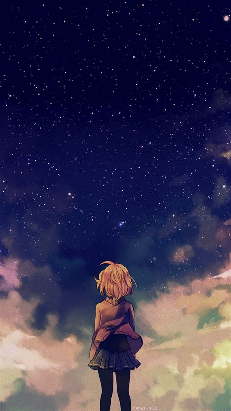 Iphone 7 Plus Anime Wallpaper - papers co iphone wallpaper ad65 starry space illust