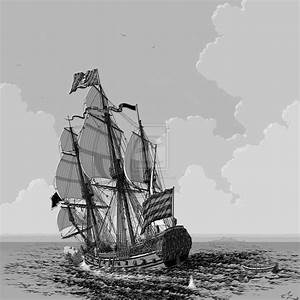 Pirate Ship Sketch Cake Ideas and Designs