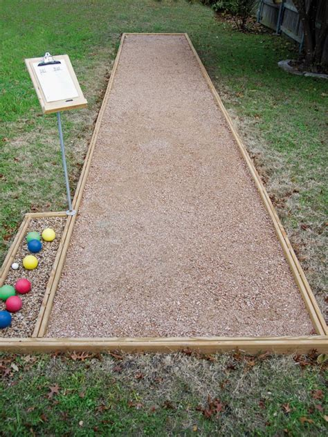 how to build a bocce court diy build an outdoor bocce court hgtv