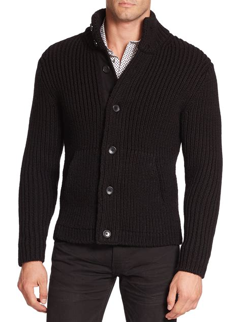 mens ribbed wool sweater baggage clothing