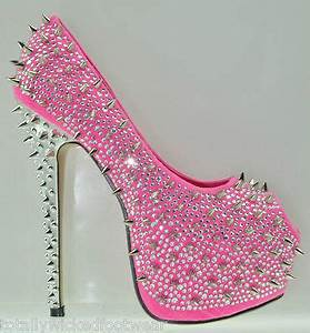 Kiss Kouture Galaxy Neon Pink Spiked from