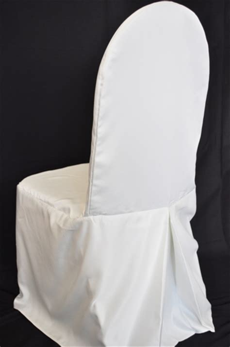white lamour satin banquet chair covers