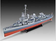Revell 1 144 Fletcher Class Destroyer Model Images