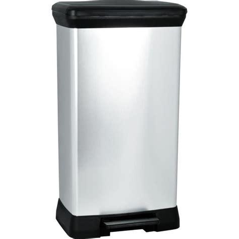 curver poubelle 224 p 233 dale 50l aspect m 233 tal argent achat
