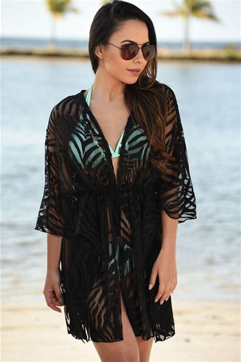 hot summer women sexy black beach coverups  store