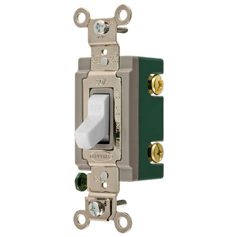 hubbell light switch shop hubbell 15 20 pole white toggle indoor