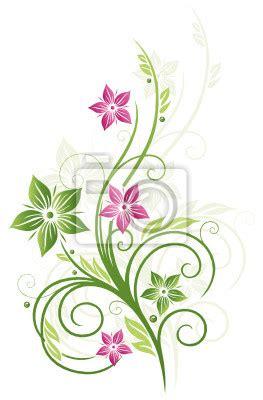 Blumenranke Grün Horizontal by Fr 252 Hling Rahmen Bl 228 Tter Blumen Ranke Gr 252 N Rosa