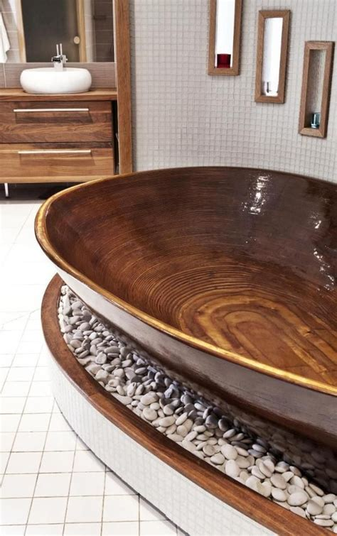wooden sinks and bathtubs 25 amazing bathrooms with wooden bathtub