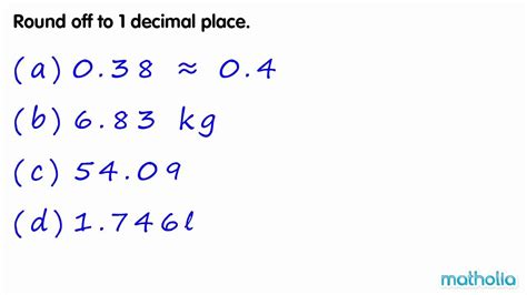 Rounding To 1 Decimal Place Youtube