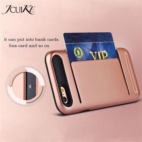 Ensure you have selected or entered the correct delivery address. Durable Rubber Hybrid Credit Card Slot For iPhone 6 6s Plus Cases Armor Wallet Back Cover For ...