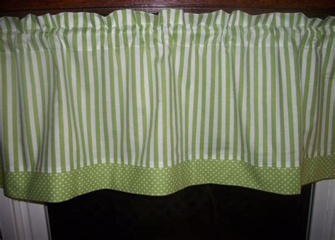 Lime Green White Polka Dot Striped Stripes Stripe Fabric Window Curtain Valance Curtain Cable System 112 Inch Curtains Pictures Living Room Door Knob Holdbacks Kitchen Images Red Apple Rustic And Drapery