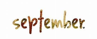 September Hello Month Cartoon Happy Word Gifs