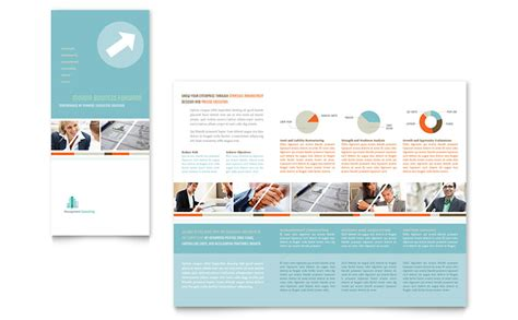 management consulting tri fold brochure template word