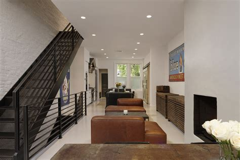 home design industrial chic row home renovation in dupont circle dc