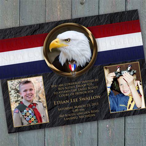 eagle scout court  honor invitation bsa invitation eagle