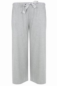 Grey Basic Cotton Pyjama Bottoms Plus Size 16 To 32