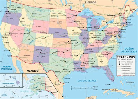Carte Etats Unis Canada Avec Villes by Carte Des Etats Unis Et Canada