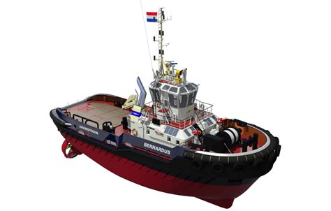 Tug Boat Drive by Diesel Electric Power Plus Batteries Makes For A