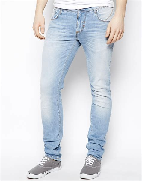 cheap light blue skinny jeans mens jeans light blue bbg clothing
