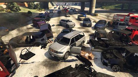 Gta V Huge Car Pile Up