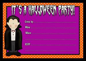 Invitations printable party kits for Halloween invitation free