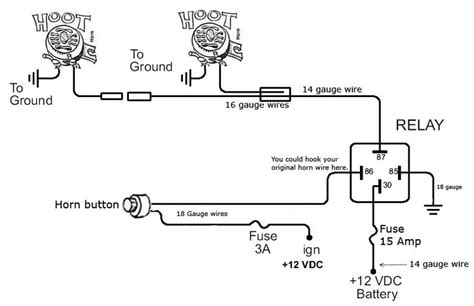horn wiring diagram http www automanualparts horn