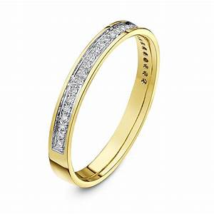 18kt yellow gold 3mm round 015 carat diamond eternity With 15 carat wedding ring