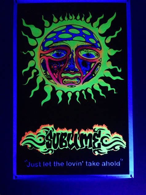 sublime black light poster photography  animals pop