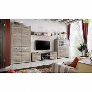 Meuble TV PIRMONT En Chne San Remo 167x48x49 Cm