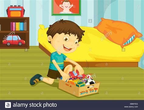 Bedroom Tidying by Tidying Toys Stock Photos Tidying Toys Stock Images Alamy