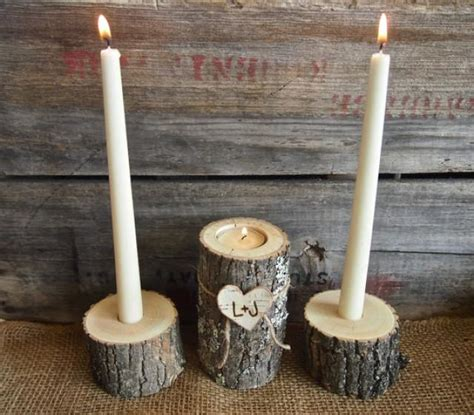 wooden taper candle holders country brown wooden unity candle holder set tea and