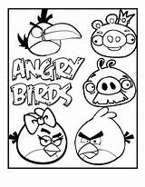 Angry Birds Coloring Printable Bird Pages Pig Slingshot Yellow Pigs Printables Ecoloringpage Sheets Transformers Fun Colouring Rovio Toucan Hit Fat sketch template