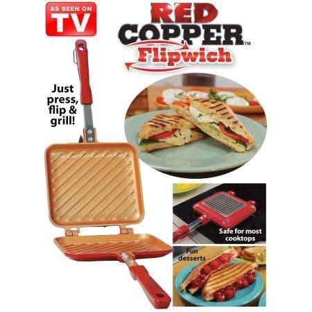 red copper flipwich sandwich maker sandwich maker