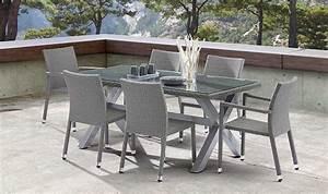 Table De Jardin Tressé : salon de jardin gris en r sine tress e 6 places ~ Nature-et-papiers.com Idées de Décoration