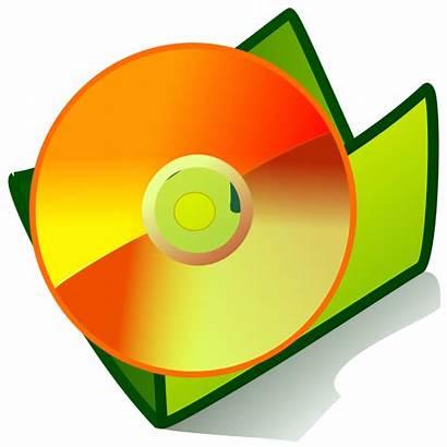 Cd Clip Clipart Vector Dvd Folder Disk