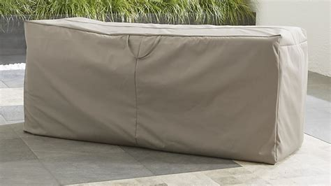 outdoor bench chaise cushion storage bag crate and barrel