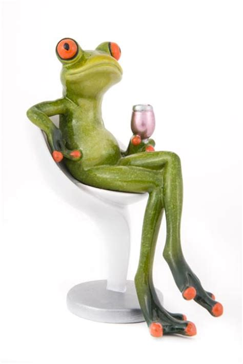 frog  chair   glass  wine globe imports