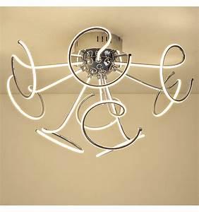 Plafonnier Design Led : plafonnier led design contemporain 9 boucles twister ~ Melissatoandfro.com Idées de Décoration