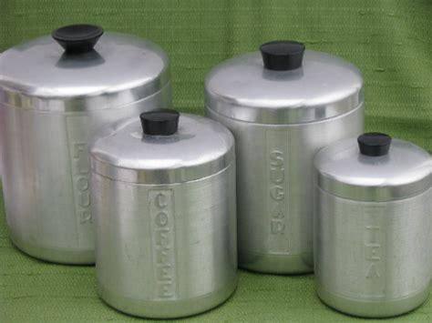 vintage kitchen canisters sets kromex vintage spun aluminum canister jar set vintage kitchen canisters