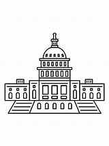 Coloring Building Capitol Template sketch template
