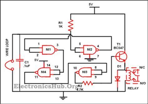 Luggage Security Alarm Project Circuit Using Logic Gates
