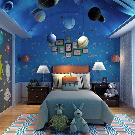 outer space bedroom space themed bedroom bedroom decor amp remodel ideas 12757 | 3ea67903f1bbad5c48529a9c1ff871a6