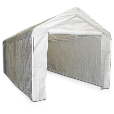 amazoncom caravan canopy side wall kit  domain carport white garden outdoor