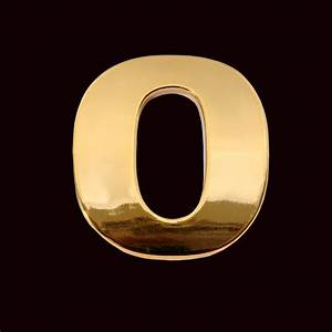 gold letter o 3cm chrome letter and sign With gold letter o